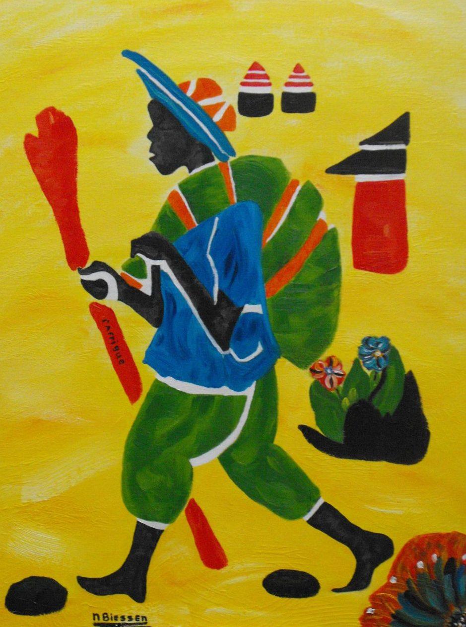 L 39 afrique schilderij van nelly biessen - Deco schilderij slaapkamer jongen ...