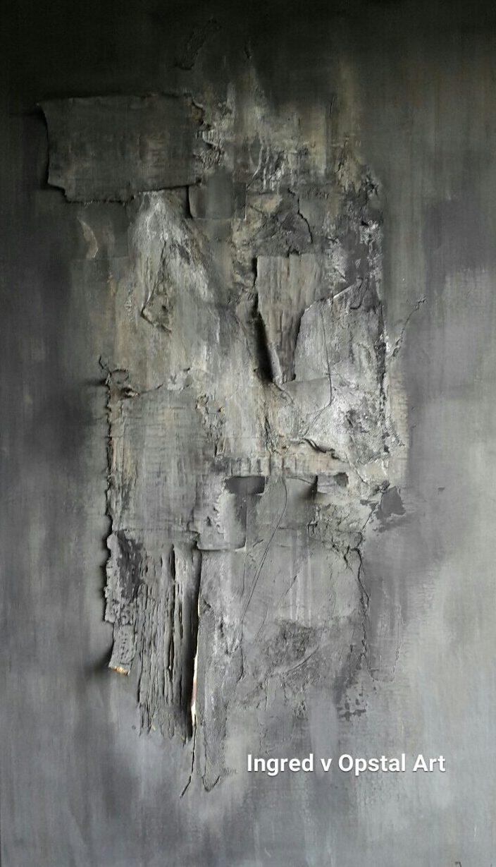 Africa schilderij van ingred v opstal - Bruin taupe schilderij ...