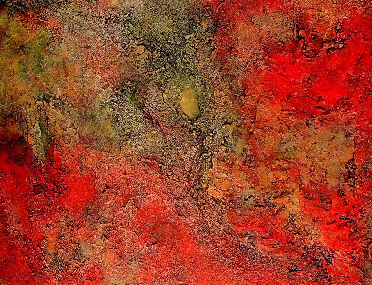 Nebula8 schilderij van ali kleinhuis - Lijst van warme kleuren ...