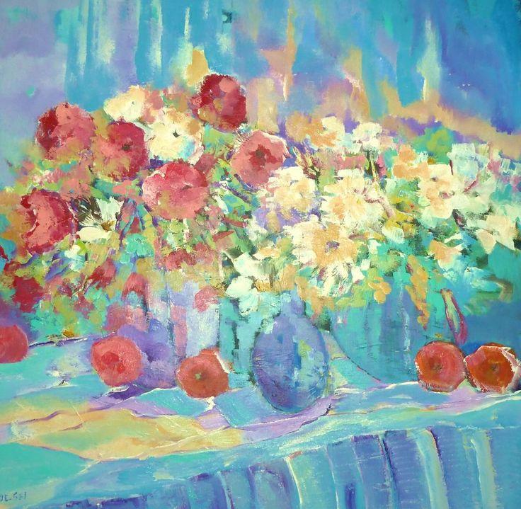 Populair Bloemen, bloemen, bloemen, schilderij van Loes Loe-sei Beks #VN33